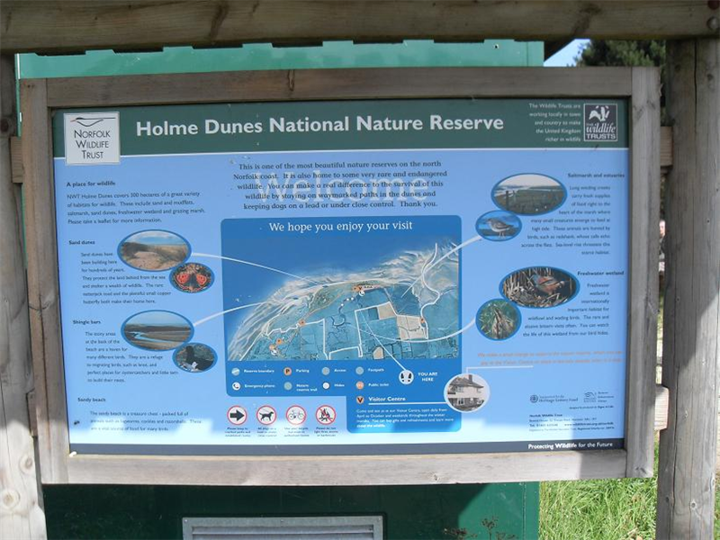 Holme NWT information board